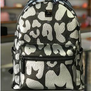 ❤️New MCM Stark MCM Leopard Prints Black Backpack